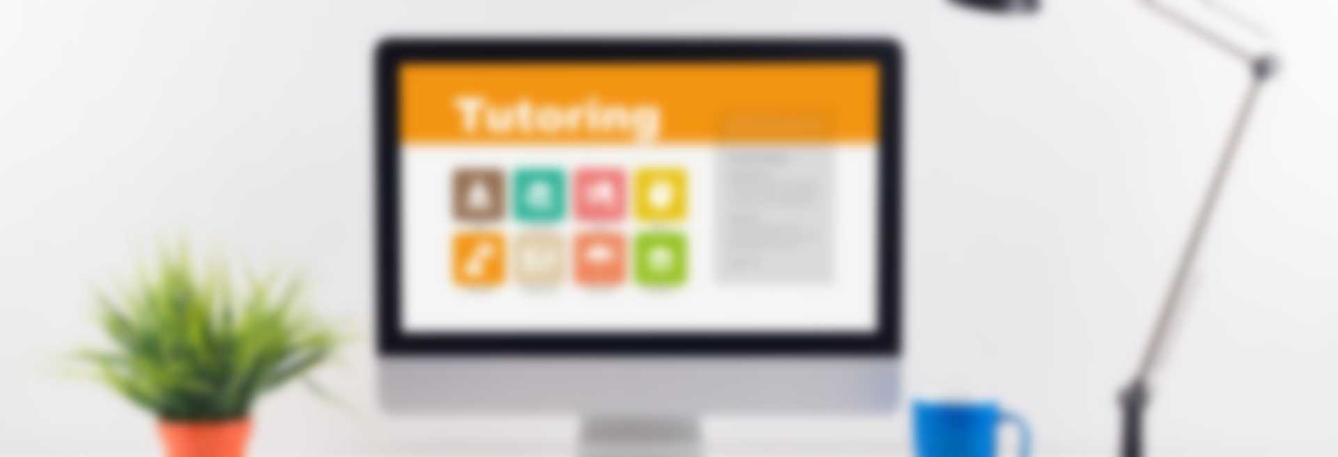 Tutoring screen on the workplace